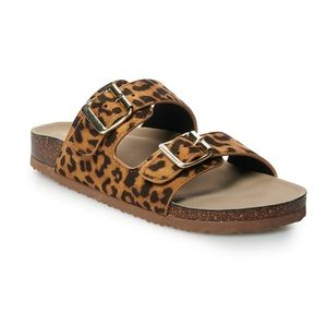 madden NYC Breckk Women's Footbed Sandals leopard